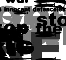 Stop the War Sticker