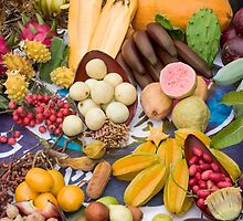 A selection of edible tropical fruit  by PhotoStock-Isra