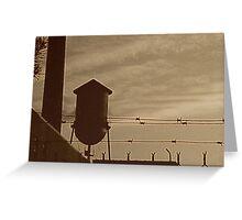 Sepia Warehouse Greeting Card