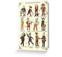 The Twelve Doctors of Christmas Greeting Card