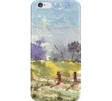 Two fence poles iPhone Case/Skin