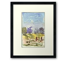 Two fence poles Framed Print