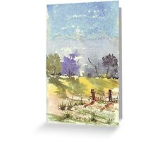Two fence poles Greeting Card