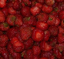Fresh Delicious Strawberries by Crystal Zacharias