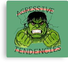 The Incredible Hulk Tattoo Flash Canvas Print