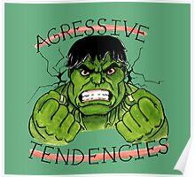The Incredible Hulk Tattoo Flash Poster
