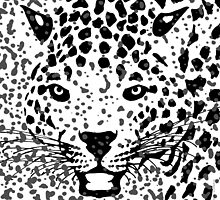 Spots Over Jaguar | Portrait Illustration Artwork by Michel Godts