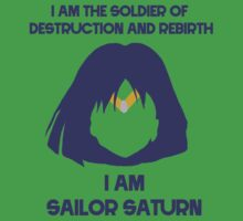 Sailor Saturn! Soldier of Destruction and Rebirth Kids Tee