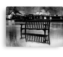 The River Thames Floods!  Canvas Print