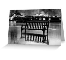 The River Thames Floods!  Greeting Card