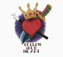 Follow Your Heart Tattoo Flash Baby Tee