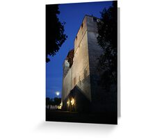 Moonlight Castle Greeting Card
