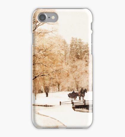 Two-Horse Open Sleigh II  iPhone Case/Skin