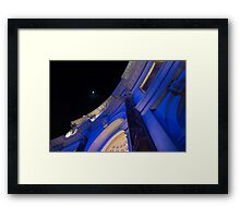 Moon at the Forum Framed Print