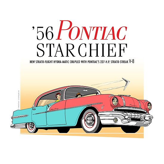 '56 Pontiac Star Chief Brand | Vintage Car Illustration Poster by Michel Godts