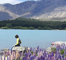 Nick Contemplating Lake Tekapo by avionz