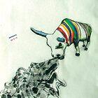 COW eating a dress by kipishiux