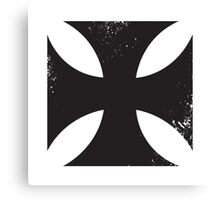 Iron cross in black. Canvas Print