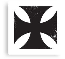 Iron cross in black. Canvas Print