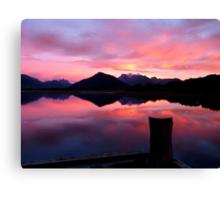 A Beautiful Day Dawns 2.. - Sunrise Glenorchy - NZ Canvas Print