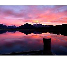 A Beautiful Day Dawns 2.. - Sunrise Glenorchy - NZ Photographic Print