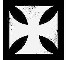 Iron cross in white. Photographic Print