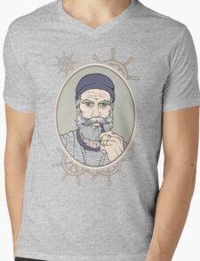 Salty Sea Dog Mens V-Neck T-Shirt
