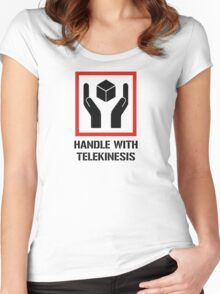 Handle With Telekinesis Women's Fitted Scoop T-Shirt