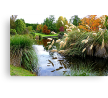 Nature's Autumn Painting Reflected - New Zealand Canvas Print