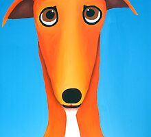 Red Greyhound by Katie Weychardt