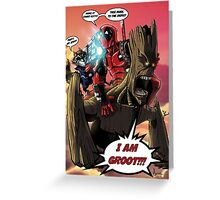 Deadpool and The Guardians of the Galaxy Greeting Card