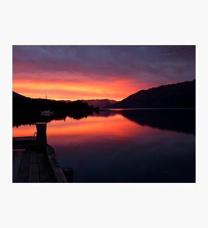 A Beautiful Day Dawns.. - Sunrise Glenorchy - NZ Photographic Print