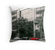 Red VW beetle Throw Pillow
