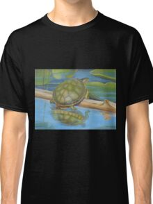 Turtle on a Log  Classic T-Shirt