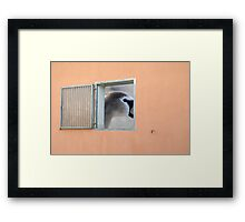 window with view Framed Print