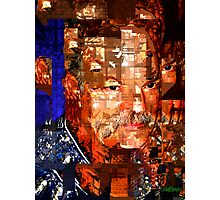 Stained Glass Man Photographic Print