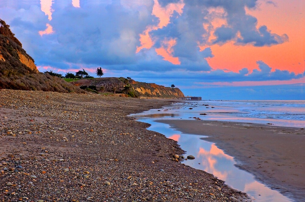 Tranquility. A section in Bacara Beach in Santa Barbara California by Eyal Nahmias