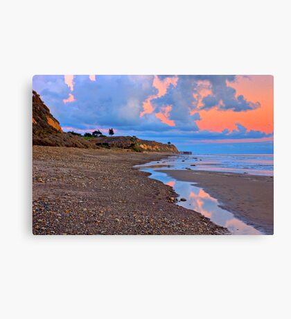 Tranquility. A section in Bacara Beach in Santa Barbara California Canvas Print