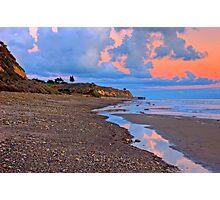 Tranquility. A section in Bacara Beach in Santa Barbara California Photographic Print