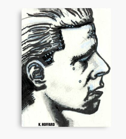 Profile of Man Canvas Print