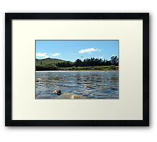 Natures Perfection! - NZ - Southland River Framed Print