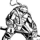 Donatello inks by spiderlaw