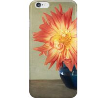 Orange Dahlia iPhone Case/Skin