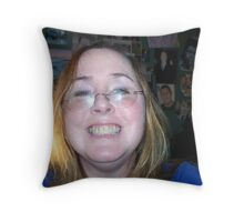 Goober The Happy Camper Throw Pillow