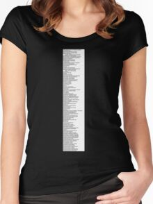 Library Sign - Dewey Decimal System by Tens -  White Women's Fitted Scoop T-Shirt