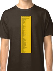Library Sign - New Classification Scheme for Chinese Libraries Classic T-Shirt