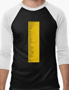 Library Sign - New Classification Scheme for Chinese Libraries Men's Baseball ¾ T-Shirt