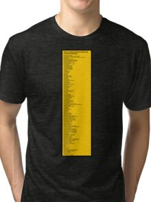 Library Sign - New Classification Scheme for Chinese Libraries Tri-blend T-Shirt