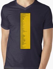 Library Sign - New Classification Scheme for Chinese Libraries Mens V-Neck T-Shirt