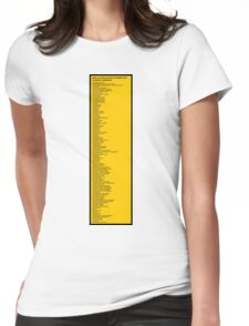 Library Sign - New Classification Scheme for Chinese Libraries Womens Fitted T-Shirt